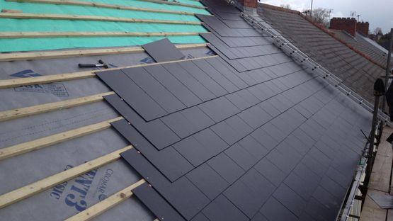 A re-roofing job that is being done by our skilled professionals