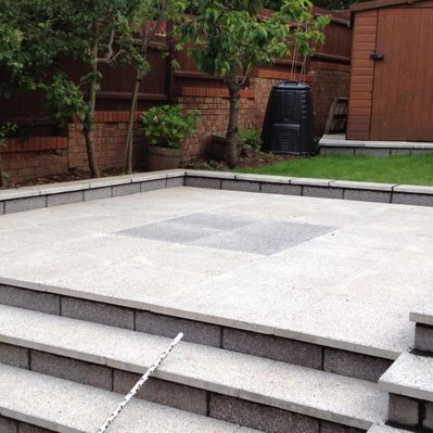 Block paving that has been installed for a domestic client