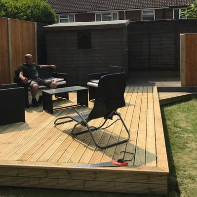 Decking that has been laid by our skilled team