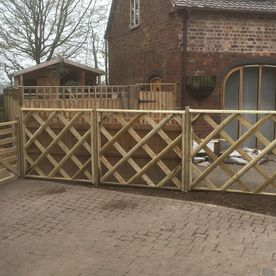 A small fence that has been constructed by our team