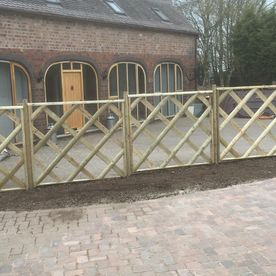 block paving driveway and fence work completed by the staff at David Miller & Son Ltd