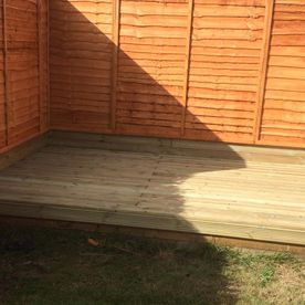 A completed decking job completed by our team