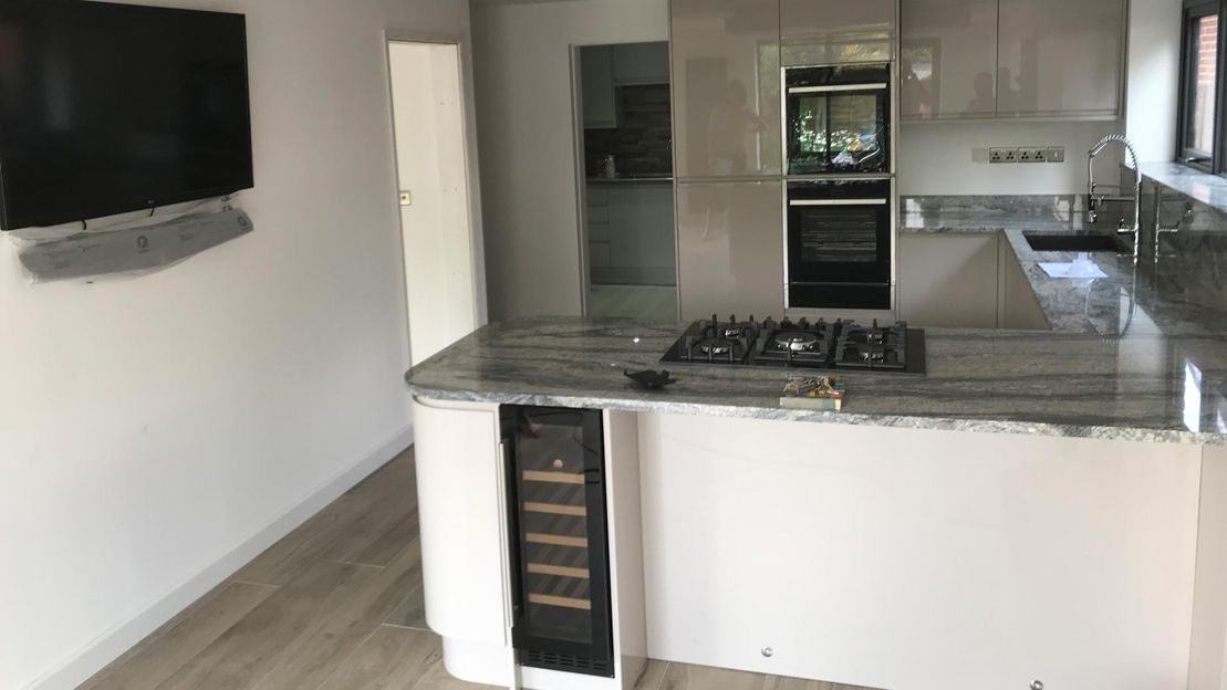 A kitchen that has been fitted by our professionals