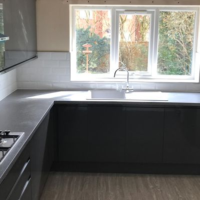 A kitchen that has been fitted by our team