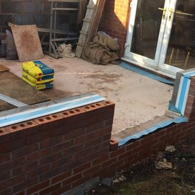 A small conservatory being constructed by David Miller & Son Ltd